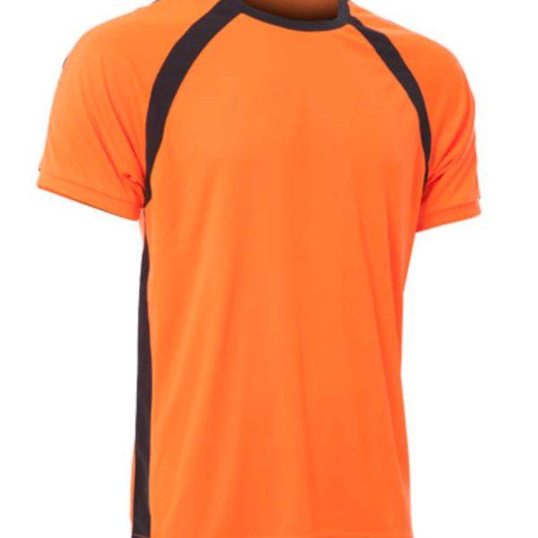 Naranja flúor-Negro